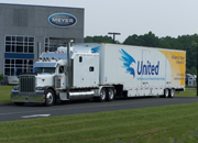 United Van Lines Truck in front of Myer Moving & Storage building