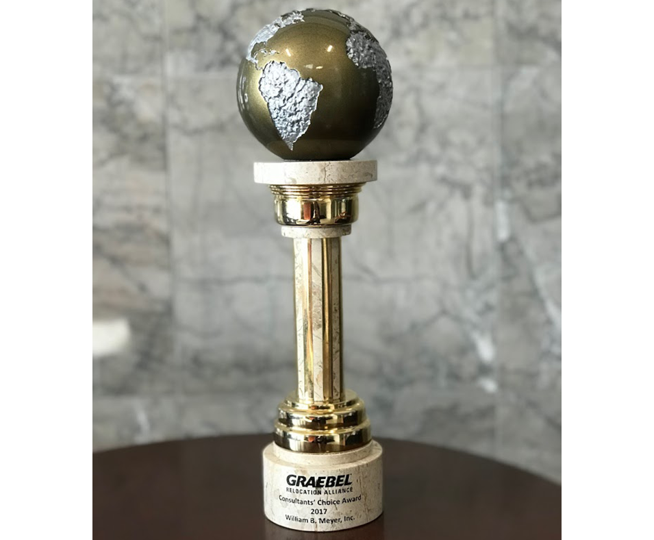 William B. Meyer, Inc. Receives Award at Graebel's Annual Supplier's Conference