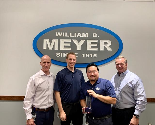 William B. Meyer Inc.'s Mike Pavelko awarded Graebel International Coordinator Choice Award
